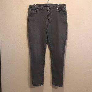Michael Kors gray skinny leg jeans